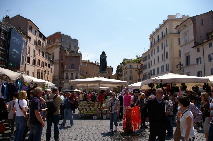 Campo de Fiori, Rome.  May 1, 2009